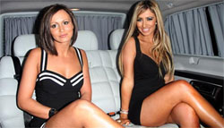 Chantelle Houghton & Chanelle Hayes Limousine
