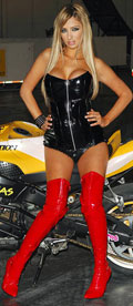 Chantelle Houghton at the MCN Motorcycle Show London