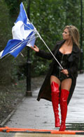 Chantelle Houghton MCN broken umbrella