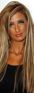 Chantelle Houghton orange faced new look